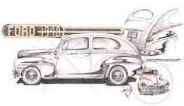 Study in Post-War Design - 48 Ford Sedan